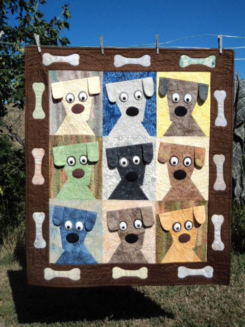 Dog Daze Quilt Designed by Karen, The Pattern by Kimberly Rade for Fonsandporter