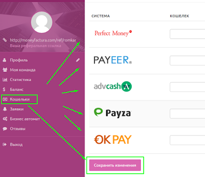 Личный кабинет в фонде Moneyfactura