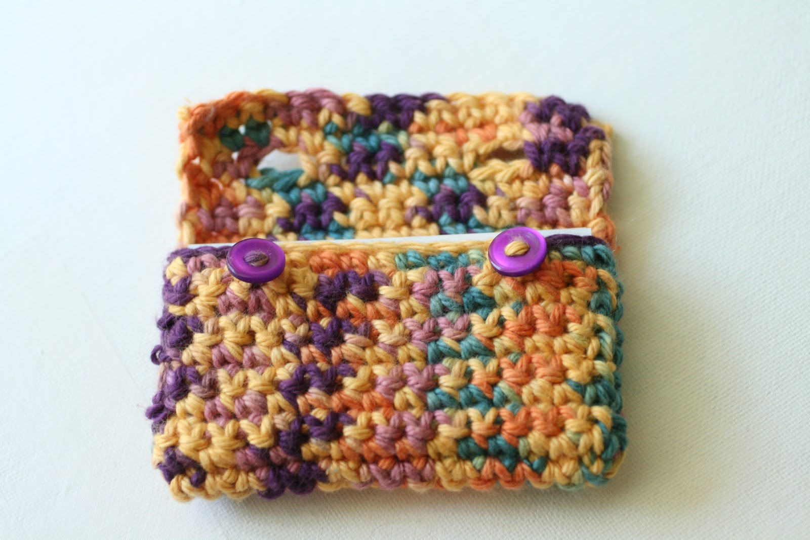 Crocheted Business Card Holder {Free Pattern} - Sugar and Stitches