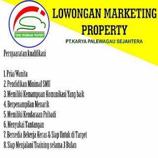 Lowongan Kerja Marketing Property PT Karya Palewagau Sejahtera