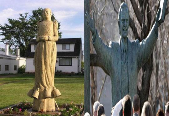Estátua em homenagem ao pastor Billy Graham