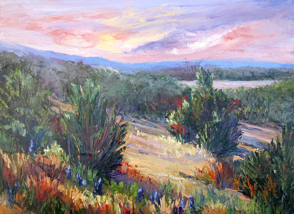 Artists of texas contemporary paintings and art lake for Lake front view