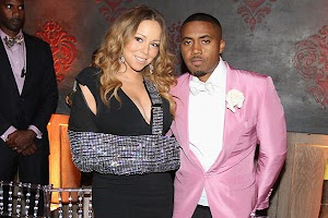 Mariah Carey at a party in honor of the birthday of rapper Nas