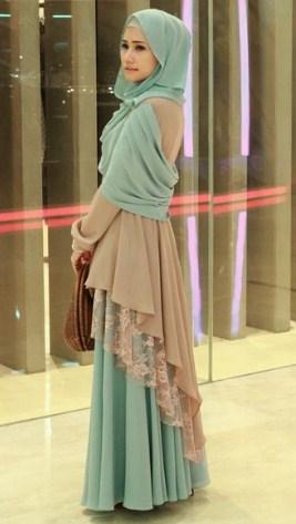 34+ Contoh Model Dress Muslim Modern | Desain Cantik dan Modis