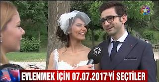 Evlenmek için 07. 07. 2017'yi seçenler