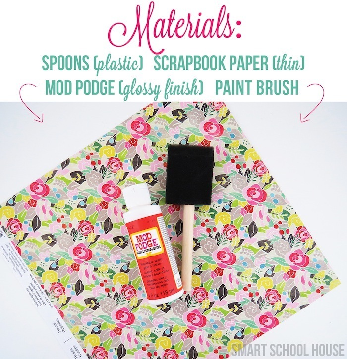 Materials for DIY floral spoons
