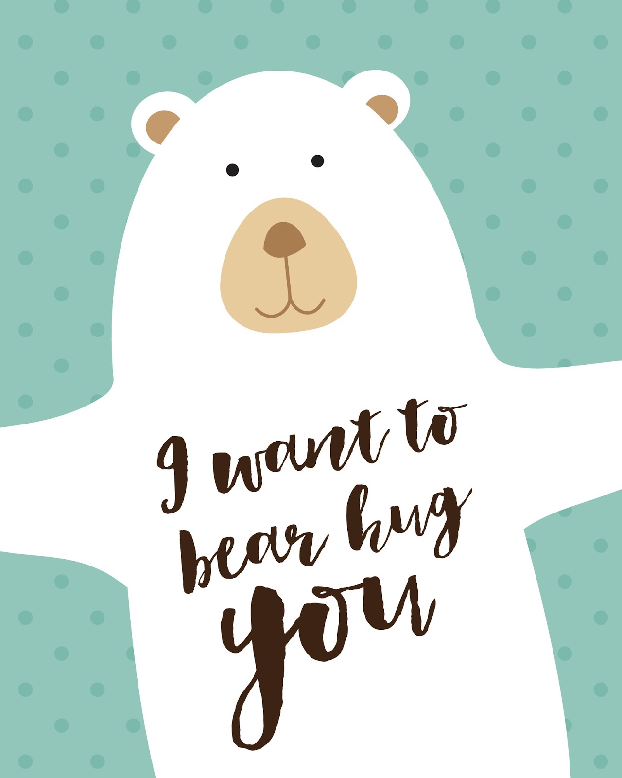 I Want To Cuddle With You Quotes: Free Printables For Happy Occasions : DIY Nursery Room
