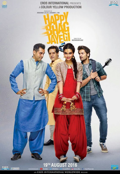 Poster Of Happy Bhag Jayegi 2016 480p Hindi DVDScr Full Movie Download