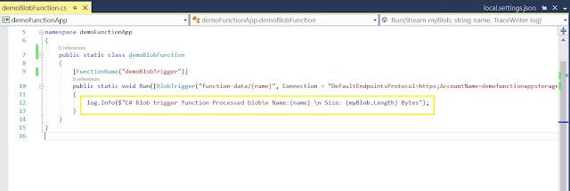 Log code inside function