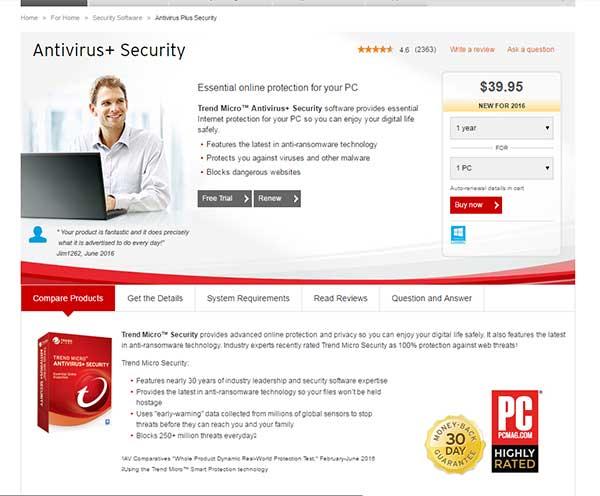 Antivirus terbaik saat ini yang bisa dicoba - Trend Micro