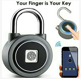 WGCC Keyless Padlock - Fingerprint Security Lock