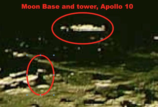 Tháp và căn cứ lạ trên mặt trăng bị lộ trong loạt ảnh từ Apollo 10 của NASA