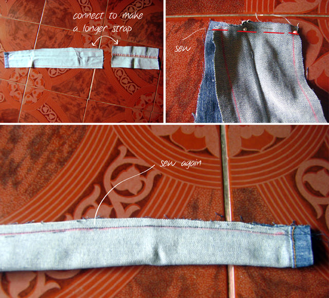 DIY Denim Backpack from Jeans Strap Tutorial