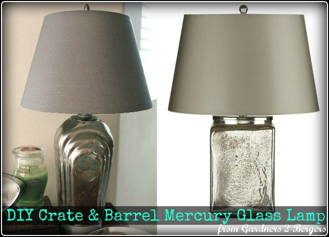DIY-▪Crate-&-Barrel▪-Mercury-Glass-Lamp