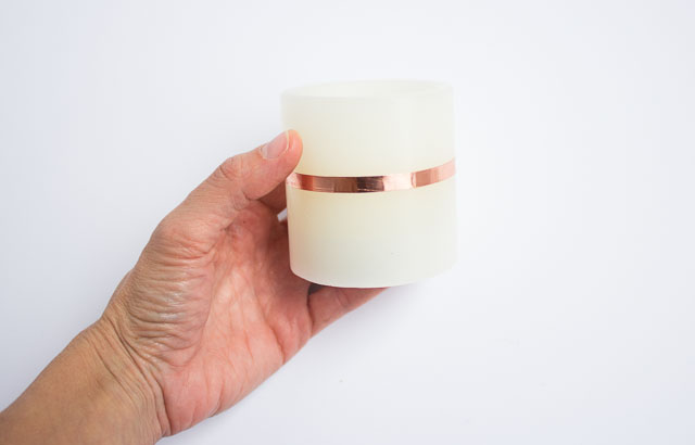 How to wrap flameless battery operated candles with copper foil tape