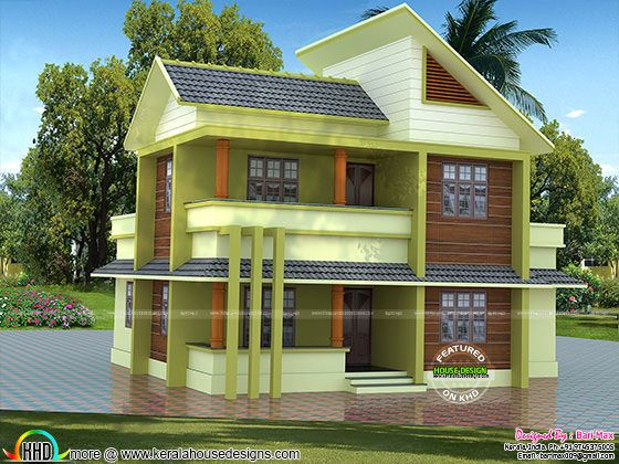 1700 sq-ft ₹30 lakhs cost estimated modern home