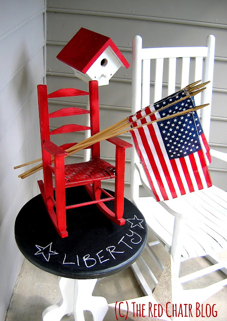 4th of July front porch decorating idea at The Red Chair Blog
