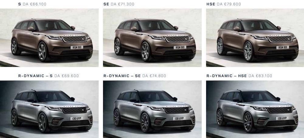 Range Rover Velar: Prezzi | Listino, versioni e allestimenti
