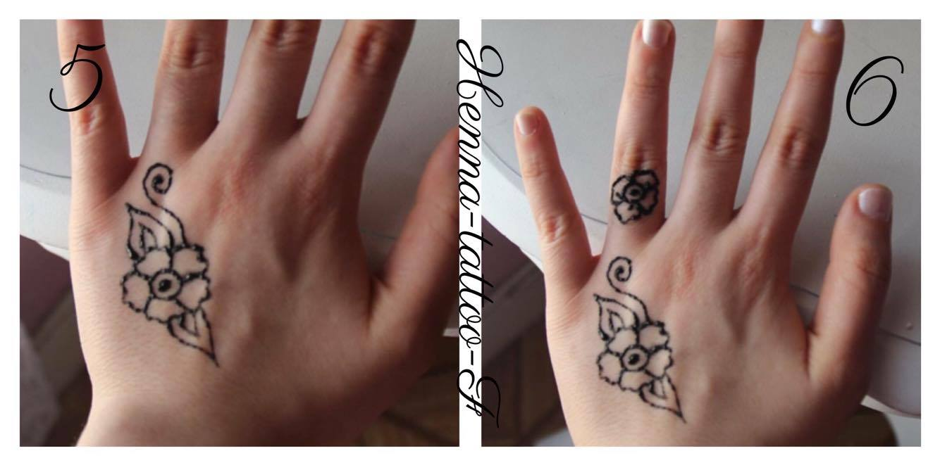 Henna tattoo by f tutoriel tatouage henn motif facile - Dessin henne main ...