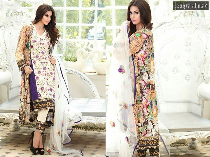 ef9baa045 Zahra Ahmad S S Lawn Dresses 2015-16 For Women