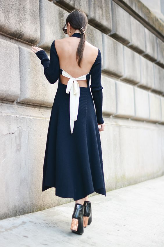 Look-For-Less: Céline Open Back Bow Tie Dress