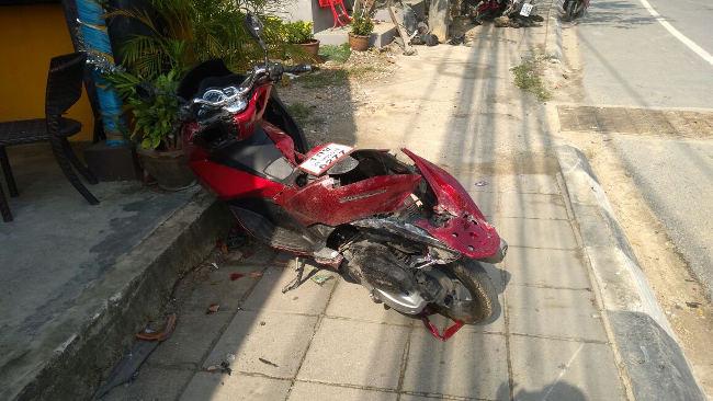 Honda pcx 150 после аварии
