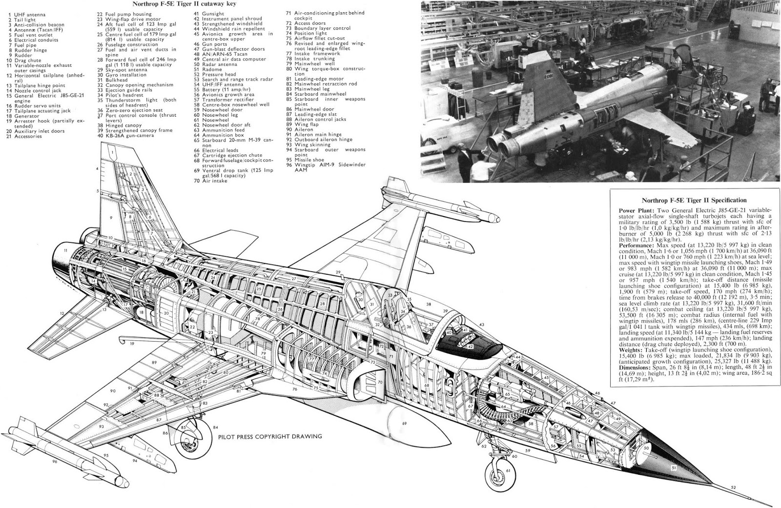 airplane scale modelkit  northrop f