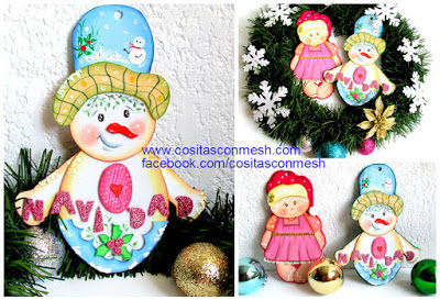 muñecos-foami-navidad