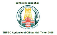 TNPSC Agricultural Officer Hall Ticket