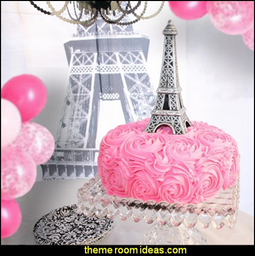 Eiffel Tower Cake Topper  Paris party decorations - Paris themed party supplies - Party in Paris Birthday Party Decorations  -  Pink Paris Party -  Paris party balloons - Eiffel Tower Favor Boxes -  French-themed celebration  - Pink Poodle Paris Theme Birthday Party