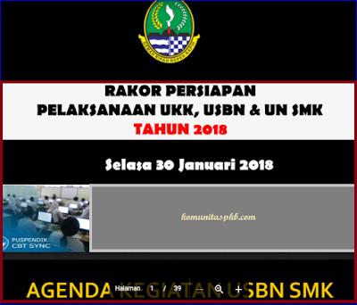 Rakor Persiapan Persiapan UKK USBN UN SMK Tahun 2018