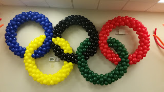 Olympic 2016 by Rio de Janeiro balloon rings and balloon torches