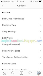 Ganti Password Instagram