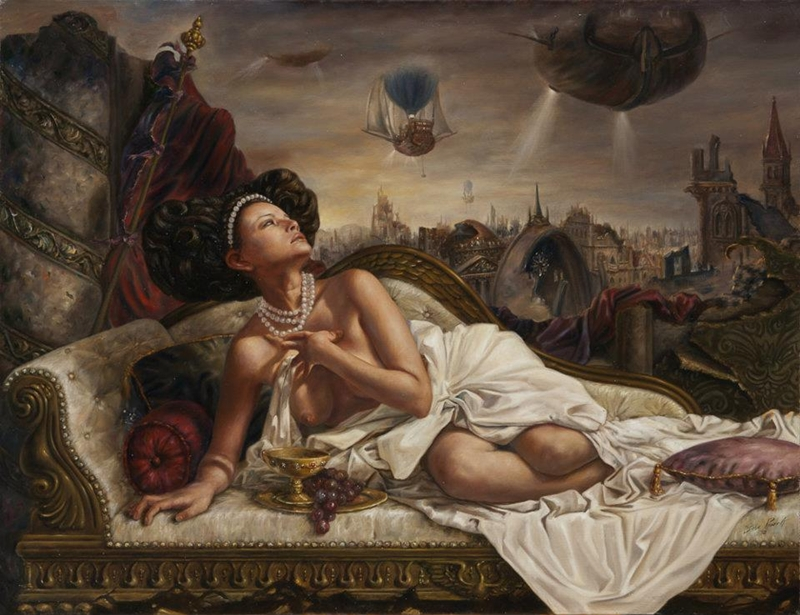 José Parra 1975 | Mexican Surrealist painter
