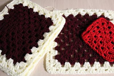 crochet, granny squares, WIP, work in progress