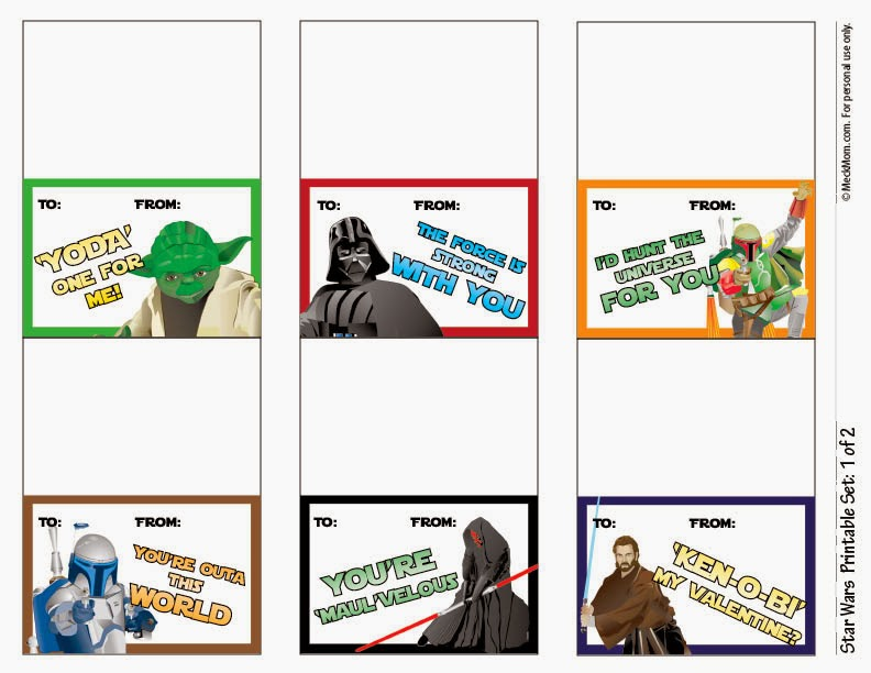 photo regarding Printable Star Wars Valentines named Gain of Madness: Free of charge Printable Star Wars Valentines! (Roundup)