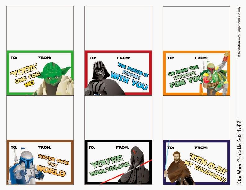 Edge of Insanity FREE Printable Star Wars Valentines! (Roundup)