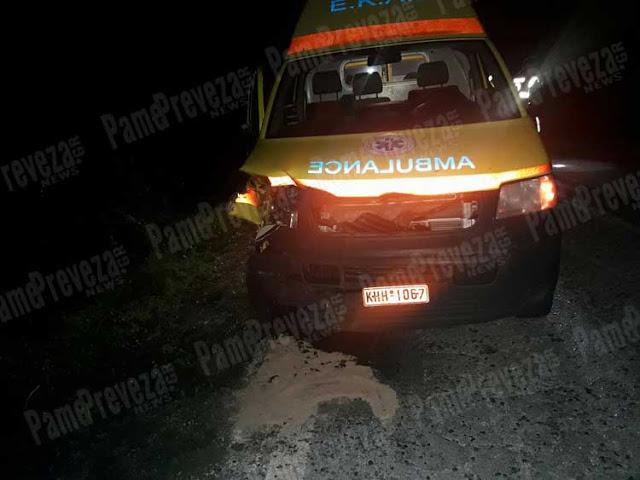 Πρέβεζα: Ασθενοφόρο έπεσε πάνω σε μοσχάρια