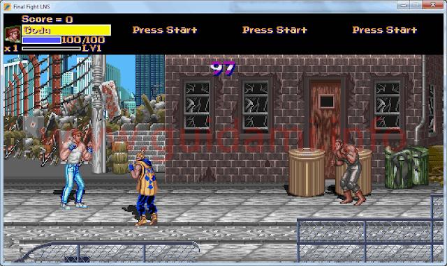 Final Fight LNS finestra di gioco