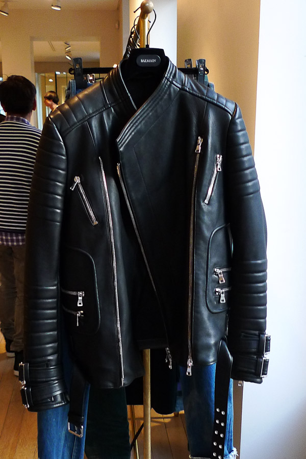 7c1b0650 The Balmain Multi-Zipped Biker Leather Jacket from Fall Winter 2013  collection is far more aggressive than its predecessors, featuring an  additional front ...