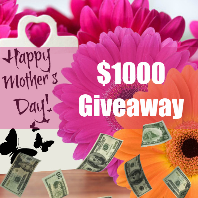 $1000 Mother's Day Giveaway by top beauty blogger barbies beauty bits