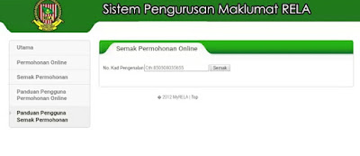 Permohonan Anggota RELA Secara Online