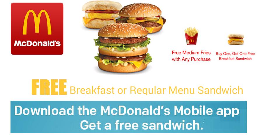 Mcdonalds coupons without app