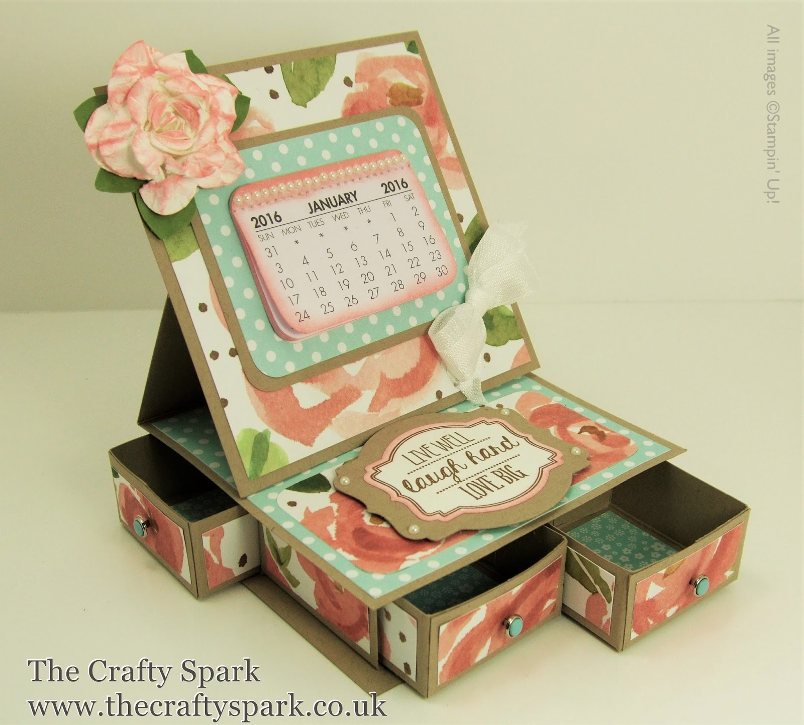Desktop Calendar and Organiser with English Garden Designer