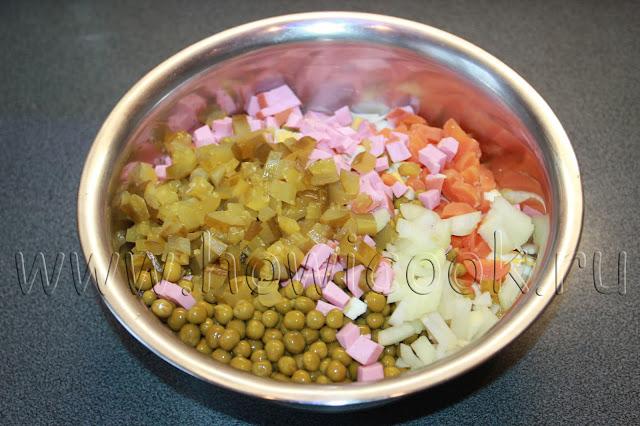 рецепт салата оливье с пошаговыми фото