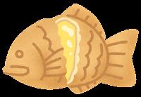 たい焼きのイラスト(クリーム)
