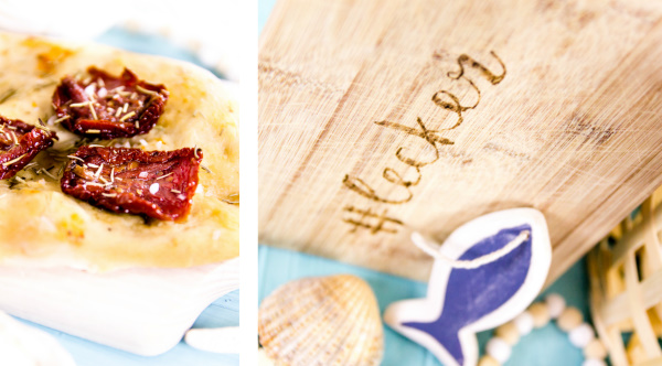 Rezept für frisch gebackenes Focaccia - toll zum Grillen oder einfach, um an den Sommer zu denken! |  titatoni.de