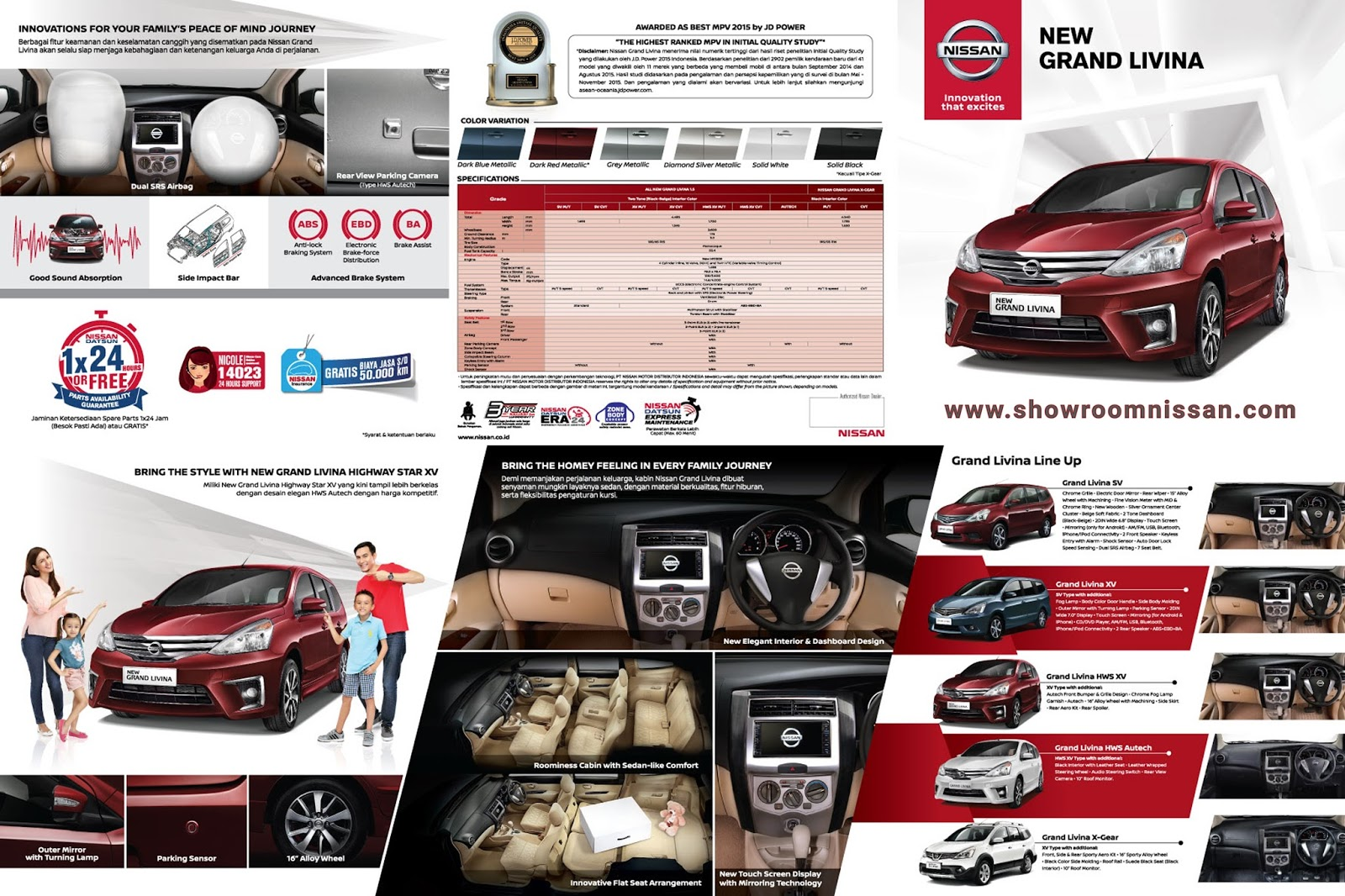 Head Unit Grand New Veloz 2018 Avanza Vs Mitsubishi Xpander Informasi Promo Harga Kredit Dealer Mobil Nissan Jakarta