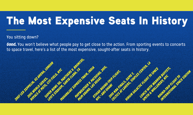 The Most Expensive Seats in History