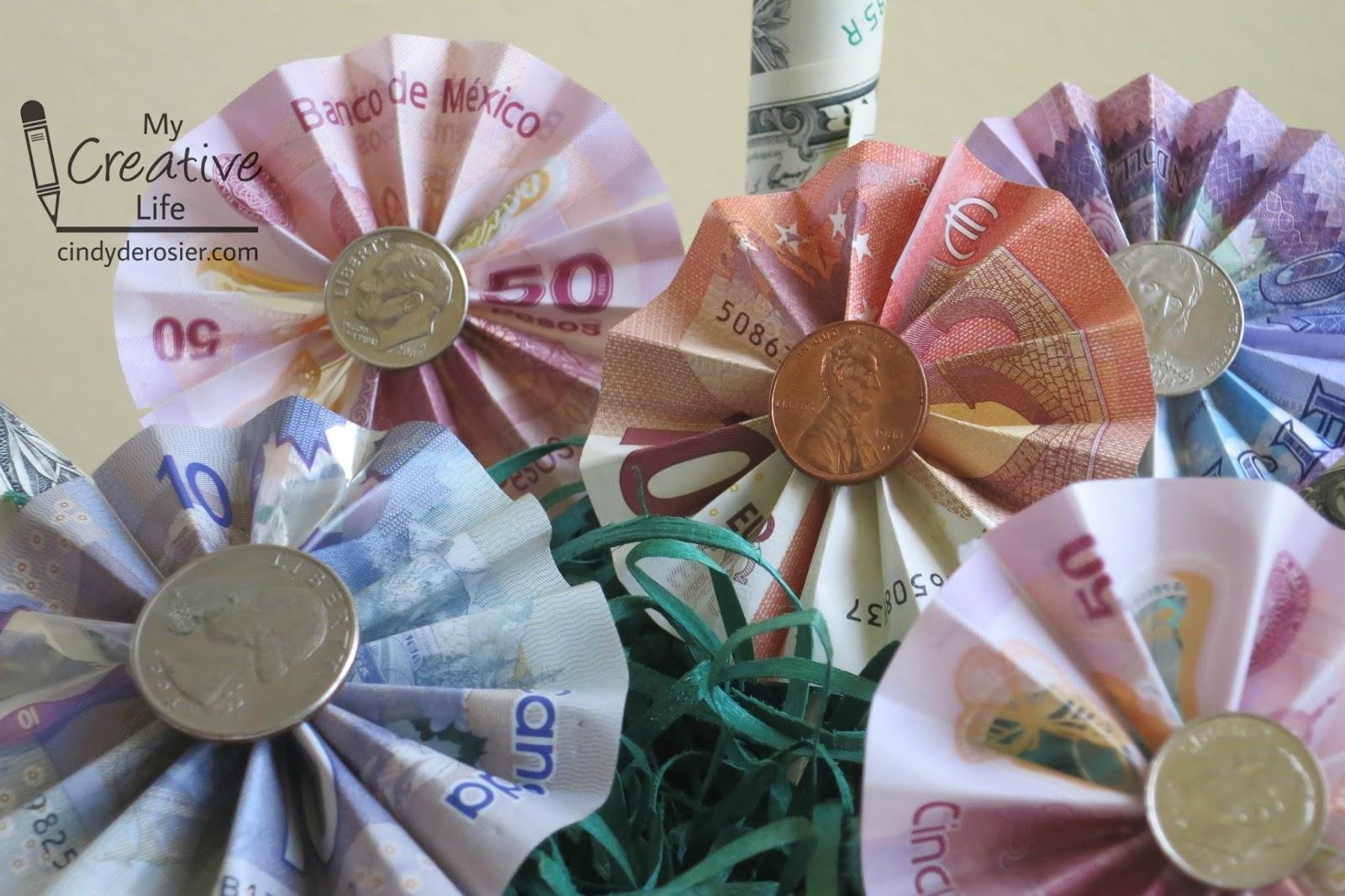 Cindy deRosier: My Creative Life: Money Bouquet